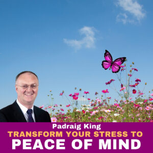 Transform Your Stress to Peace of Mind, positivity, happiness and fulfilment with simple activities and visualisation lead by stress eliminator Padraig King https://king.ie/transformyourstresstpeaceofmind